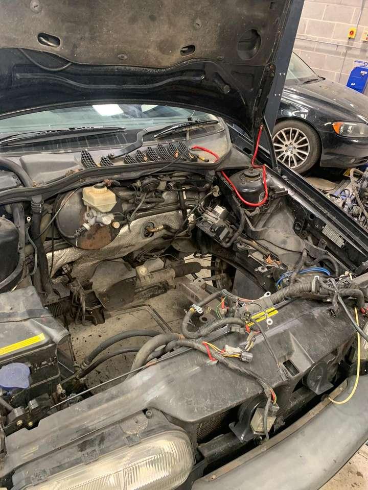 Volvo engine removed