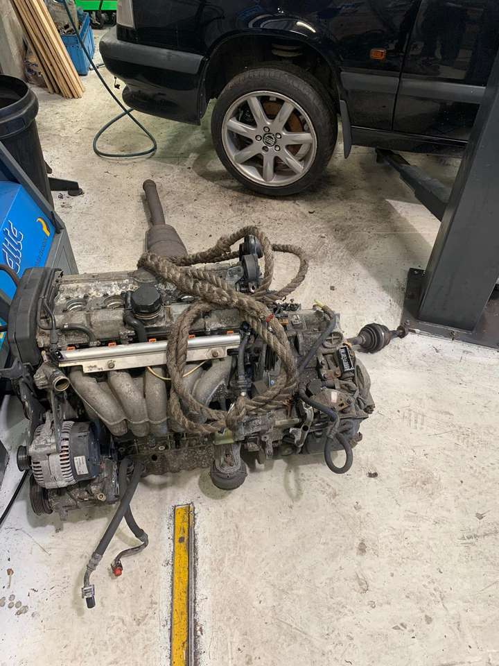 Volvo engine disconnected